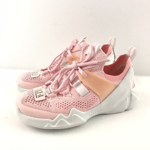 Skechers Girl 5 Sneaker Pink Lace Up DLT A Memory